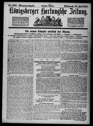 Königsberger Hartungsche Zeitung vom 31.07.1918