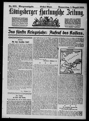 Königsberger Hartungsche Zeitung vom 01.08.1918