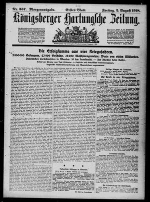 Königsberger Hartungsche Zeitung vom 02.08.1918