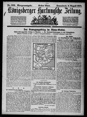 Königsberger Hartungsche Zeitung vom 03.08.1918