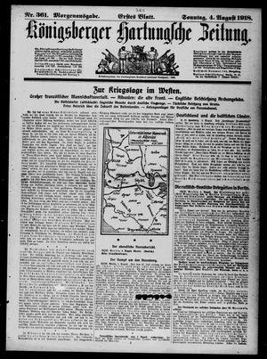 Königsberger Hartungsche Zeitung vom 04.08.1918