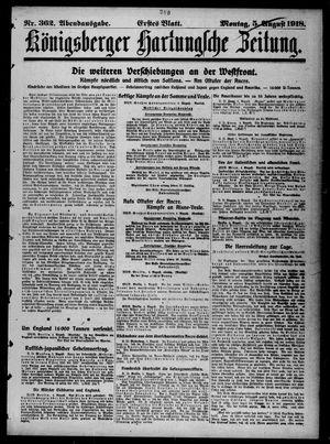 Königsberger Hartungsche Zeitung vom 05.08.1918