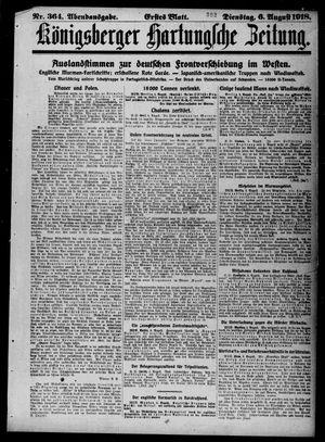 Königsberger Hartungsche Zeitung vom 06.08.1918