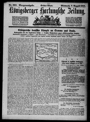 Königsberger Hartungsche Zeitung vom 07.08.1918
