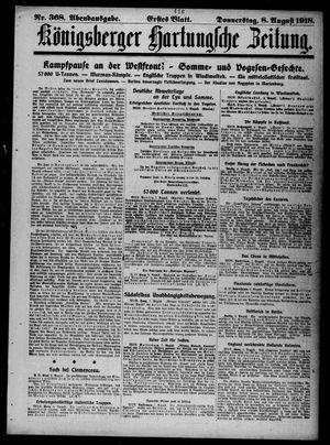 Königsberger Hartungsche Zeitung vom 08.08.1918