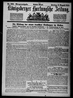 Königsberger Hartungsche Zeitung vom 09.08.1918