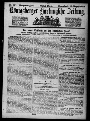 Königsberger Hartungsche Zeitung vom 10.08.1918