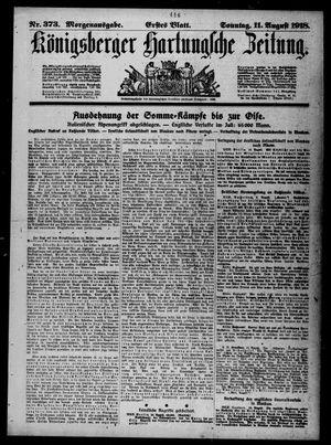 Königsberger Hartungsche Zeitung vom 11.08.1918