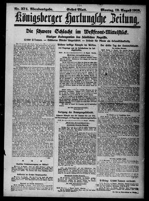 Königsberger Hartungsche Zeitung vom 12.08.1918