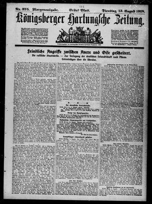 Königsberger Hartungsche Zeitung vom 13.08.1918