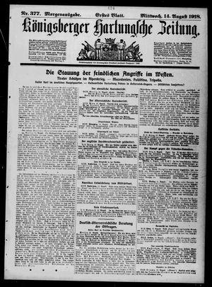 Königsberger Hartungsche Zeitung vom 14.08.1918