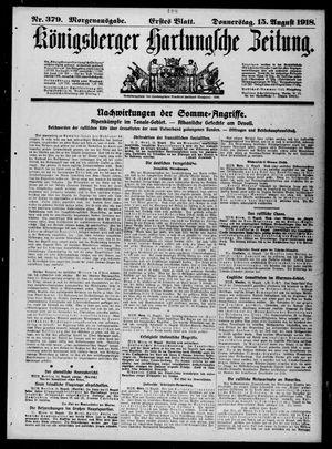Königsberger Hartungsche Zeitung vom 15.08.1918
