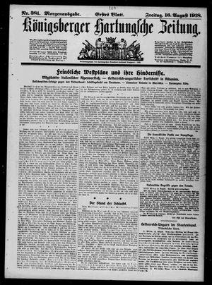 Königsberger Hartungsche Zeitung vom 16.08.1918