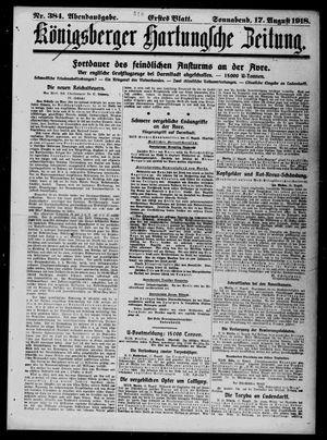Königsberger Hartungsche Zeitung vom 17.08.1918