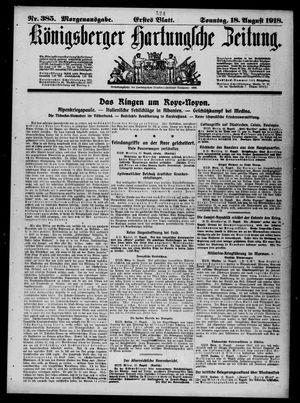 Königsberger Hartungsche Zeitung vom 18.08.1918