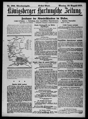Königsberger Hartungsche Zeitung vom 19.08.1918