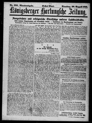Königsberger Hartungsche Zeitung vom 20.08.1918
