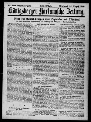 Königsberger Hartungsche Zeitung vom 21.08.1918