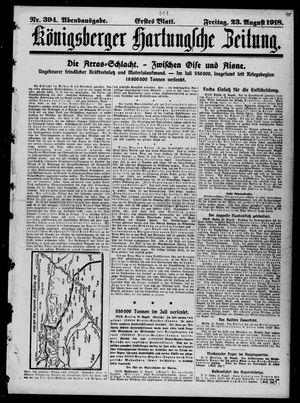 Königsberger Hartungsche Zeitung vom 23.08.1918