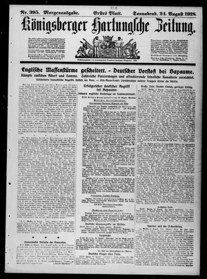 Königsberger Hartungsche Zeitung vom 24.08.1918