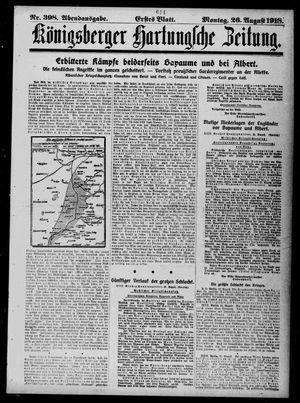 Königsberger Hartungsche Zeitung on Aug 26, 1918