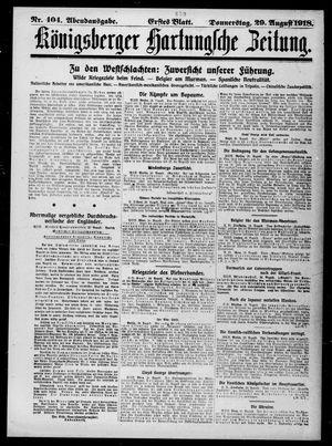 Königsberger Hartungsche Zeitung vom 29.08.1918