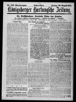 Königsberger Hartungsche Zeitung vom 30.08.1918