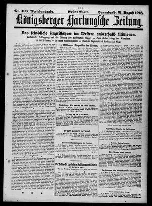 Königsberger Hartungsche Zeitung vom 31.08.1918