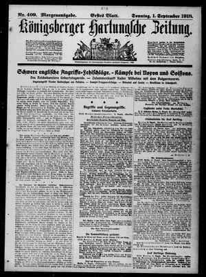 Königsberger Hartungsche Zeitung vom 01.09.1918
