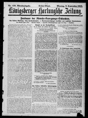 Königsberger Hartungsche Zeitung vom 02.09.1918