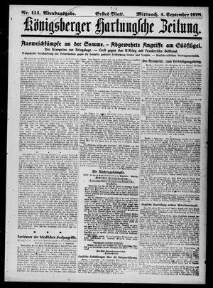 Königsberger Hartungsche Zeitung on Sep 4, 1918