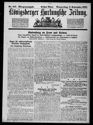 Königsberger Hartungsche Zeitung vom 05.09.1918