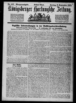 Königsberger Hartungsche Zeitung vom 06.09.1918
