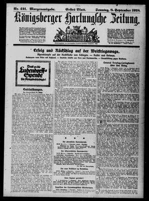 Königsberger Hartungsche Zeitung on Sep 8, 1918