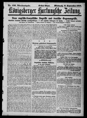 Königsberger Hartungsche Zeitung on Sep 11, 1918