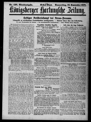 Königsberger Hartungsche Zeitung vom 12.09.1918