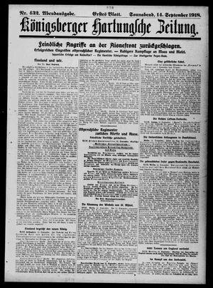 Königsberger Hartungsche Zeitung vom 14.09.1918