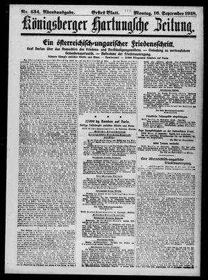 Königsberger Hartungsche Zeitung on Sep 16, 1918