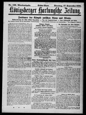 Königsberger Hartungsche Zeitung vom 17.09.1918
