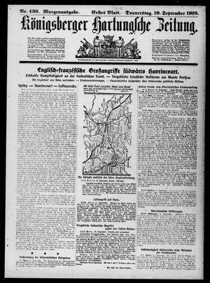 Königsberger Hartungsche Zeitung vom 19.09.1918