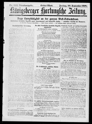 Königsberger Hartungsche Zeitung vom 20.09.1918