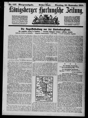 Königsberger Hartungsche Zeitung vom 24.09.1918