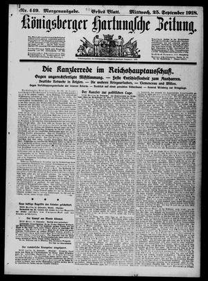 Königsberger Hartungsche Zeitung vom 25.09.1918