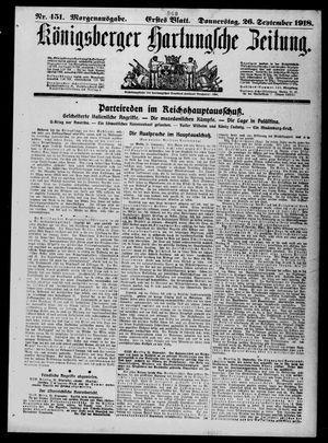 Königsberger Hartungsche Zeitung vom 26.09.1918