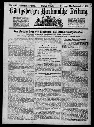Königsberger Hartungsche Zeitung vom 27.09.1918