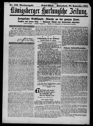 Königsberger Hartungsche Zeitung vom 28.09.1918