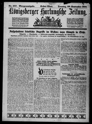 Königsberger Hartungsche Zeitung vom 29.09.1918