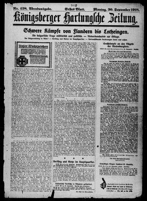 Königsberger Hartungsche Zeitung vom 30.09.1918
