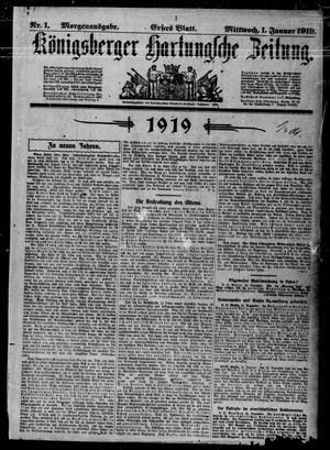 Königsberger Hartungsche Zeitung vom 01.01.1919