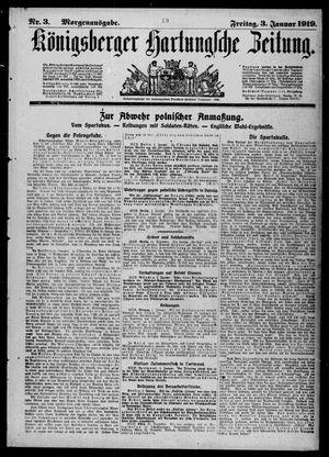 Königsberger Hartungsche Zeitung vom 03.01.1919